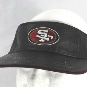 San Francisco 49er's  Leather  Visor  Adjustable